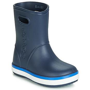 Sko Børn Gummistøvler Crocs CROCBAND RAIN BOOT K Marineblå