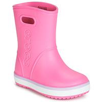 Sko Pige Gummistøvler Crocs CROCBAND RAIN BOOT K Pink