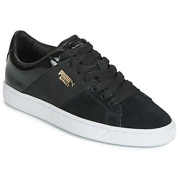 Sko Dame Lave sneakers Puma BASKET REMIX Sort / Gylden