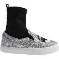 Sko Dame Høje sneakers Chiara Ferragni CF 2094 SILVER-BLACK argento
