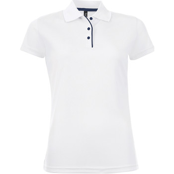 textil Dame Polo-t-shirts m. korte ærmer Sols PERFORMER SPORT WOMEN Blanco