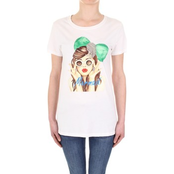 textil Dame T-shirts m. korte ærmer Vicolo RU0081 Panna