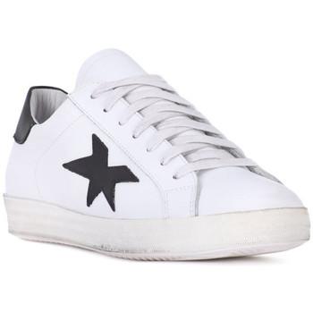 Sko Herre Lave sneakers At Go GO VITELLO BIANCO Bianco