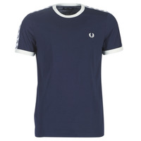 textil Herre T-shirts m. korte ærmer Fred Perry TAPED RINGER T-SHIRT Marineblå