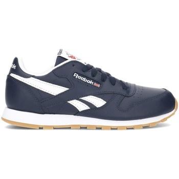 Sko Børn Lave sneakers Reebok Sport Classic Leather Hvid,Flåde