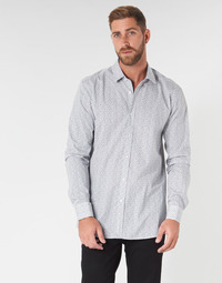 textil Herre Skjorter m. lange ærmer HUGO ELISHA02 Grå