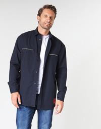 textil Herre Skjorter m. lange ærmer HUGO ETRUS Marineblå