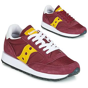 Sko Dame Lave sneakers Saucony JAZZ ORIGINAL VINTAGE Bordeaux / Gul