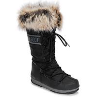 Sko Dame Vinterstøvler Moon Boot MOON BOOT MONACO WP 2 Sort
