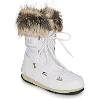 Sko Dame Vinterstøvler Moon Boot MOON BOOT MONACO LOW WP 2 Hvid