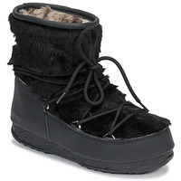 Sko Dame Vinterstøvler Moon Boot MOON BOOT MONACO LOW FUR WP Sort