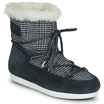 Sko Dame Vinterstøvler Moon Boot MOON BOOT FAR SIDE LOW FUR TARTAN Marineblå