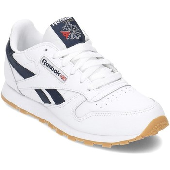 Sko Dreng Lave sneakers Reebok Sport Classic Leather Hvid,Flåde