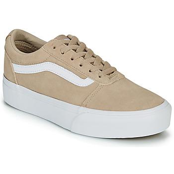 Sko Dame Lave sneakers Vans WARD PLATFOR BE Beige