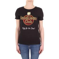 textil Dame T-shirts m. korte ærmer Gaudi 911BD64039 Nero