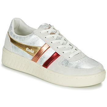 Sko Dame Lave sneakers Gola GRANDSLAM SHIMMER FLARE Beige / Sølv