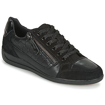 Sko Dame Lave sneakers Geox D MYRIA A Sort