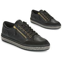 Sko Dame Lave sneakers Geox D LEELU' Sort