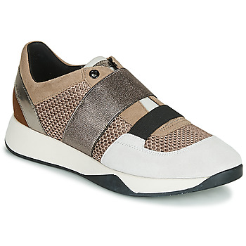Sko Dame Lave sneakers Geox D SUZZIE Muldvarpegrå / Sølv