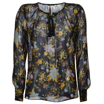 textil Dame Toppe / Bluser Ikks BP13125-02 Sort / Flerfarvet