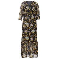 textil Dame Lange kjoler Ikks BP30195-02 Sort / Flerfarvet