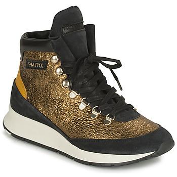 Sko Dame Høje sneakers Philippe Model MONTECARLO Guld / Sort