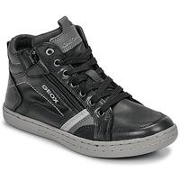 Sko Dreng Høje sneakers Geox JR GARCIA BOY Sort / Grå