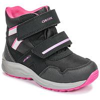 Sko Pige Vinterstøvler Geox J KURAY GIRL B ABX Sort / Pink