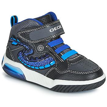 Sko Dreng Høje sneakers Geox J INEK BOY Sort / Blå