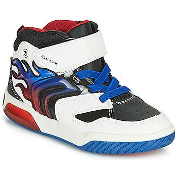 Sko Dreng Høje sneakers Geox J INEK BOY Hvid / Blå / Led