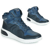Sko Dreng Høje sneakers Geox J XLED BOY Blå / Led