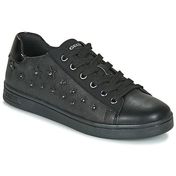 Sko Pige Lave sneakers Geox J DJROCK GIRL Sort