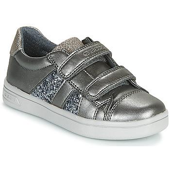Sko Pige Lave sneakers Geox J DJROCK GIRL Grå