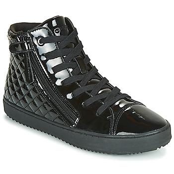 Sko Pige Høje sneakers Geox J KALISPERA GIRL Sort
