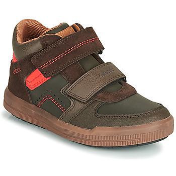 Sko Dreng Høje sneakers Geox J ARZACH BOY Brun / Orange