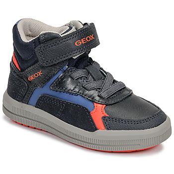 Sko Dreng Høje sneakers Geox J ARZACH BOY Blå / Orange