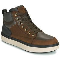 Sko Dreng Høje sneakers Geox J MATTIAS B BOY ABX Kaffe / Sort