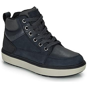Sko Dreng Høje sneakers Geox J MATTIAS B BOY ABX Blå / Sort / Vandtæt