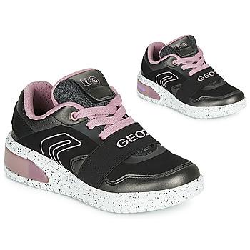 Sko Pige Høje sneakers Geox J XLED GIRL Sort / Pink / Led