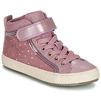 Sko Pige Høje sneakers Geox J KALISPERA GIRL Pink