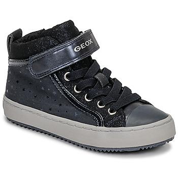 Sko Pige Høje sneakers Geox J KALISPERA GIRL Blå