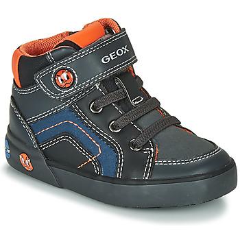 Sko Dreng Lave sneakers Geox B KILWI BOY Grå / Sort