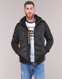 textil Herre Dynejakker Superdry STORM HYBRID ZIPHOOD Sort