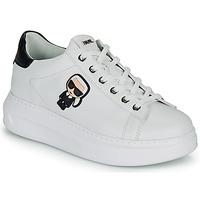 Sko Dame Lave sneakers Karl Lagerfeld KAPRI KARL IKONIC LO LACE Hvid / Sort