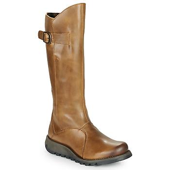 Sko Dame Chikke støvler Fly London MOL 2 Kamel
