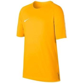 textil Dreng T-shirts m. korte ærmer Nike JR Squad Breathe Top Orange