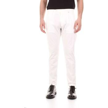 textil Herre Lærredsbukser Bicolore F2576-ZINCO Bianco