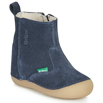 Sko Børn Chikke støvler Kickers SOCOOL Marineblå