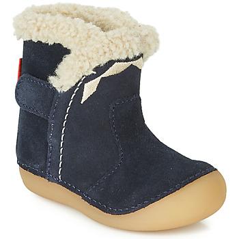 Sko Børn Chikke støvler Kickers SOFUR Marineblå
