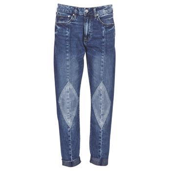 textil Dame Jeans - boyfriend G-Star Raw 3301-L MID BOYFRIEND DIAMOND Blå / Lys / Vintage / Ældet
